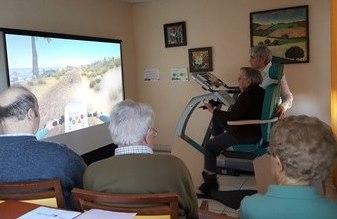 Cycléo : un vélo connecté pour s'évader dans un décor virtuel projeté en temps réel