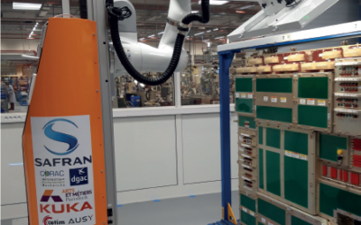 Robot mobile collaboratif de contrôle du cœur électrique de l'A350